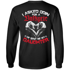 Viking apparel, Valkyrie, daughter, backApparel[Heathen By Nature authentic Viking products]Long-Sleeve Ultra Cotton T-ShirtBlackS