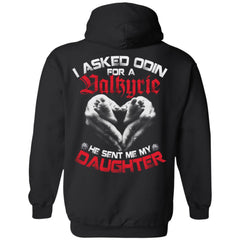 Viking apparel, Valkyrie, daughter, backApparel[Heathen By Nature authentic Viking products]Unisex Pullover HoodieBlackS