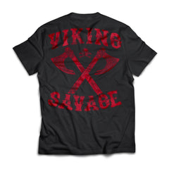 Viking apparel, viking savage, backApparel[Heathen By Nature authentic Viking products]Next Level Premium Short Sleeve T-ShirtBlackX-Small