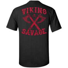 Viking apparel, viking savage, backApparel[Heathen By Nature authentic Viking products]Tall Ultra Cotton T-ShirtBlackXLT