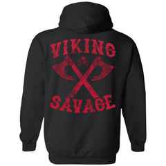 Viking apparel, viking savage, backApparel[Heathen By Nature authentic Viking products]Unisex Pullover HoodieBlackS
