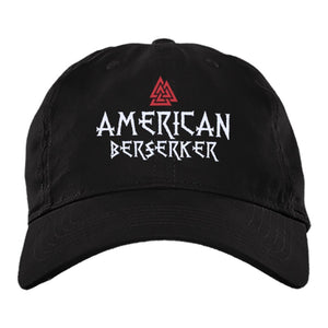 Viking Cap, American berserker, BlackApparel[Heathen By Nature authentic Viking products]BX880 Twill Unstructured Dad CapBlackOne Size