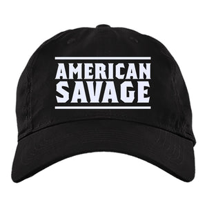 Viking Cap, American Savage, BlackApparel[Heathen By Nature authentic Viking products]BX880 Twill Unstructured Dad CapBlackOne Size