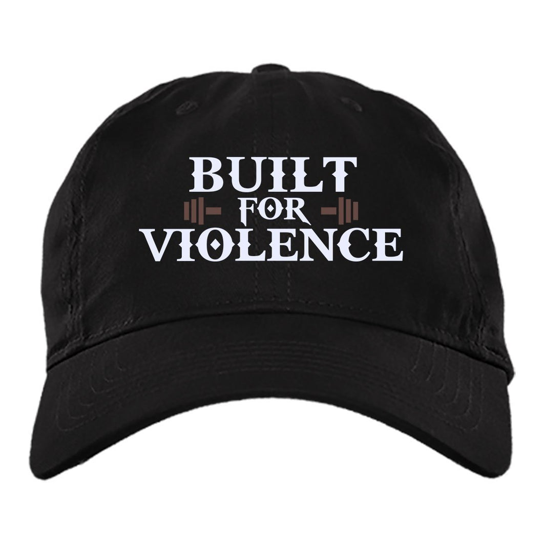 Viking Cap, Built for violence, BlackApparel[Heathen By Nature authentic Viking products]BX880 Twill Unstructured Dad CapBlackOne Size