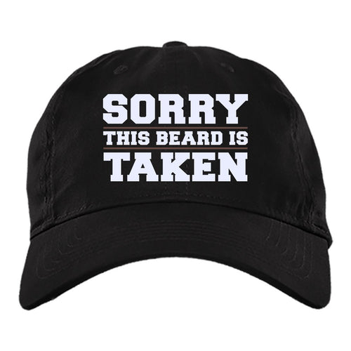 Viking Cap, This beard is taken, BlackApparel[Heathen By Nature authentic Viking products]BX880 Twill Unstructured Dad CapBlackOne Size