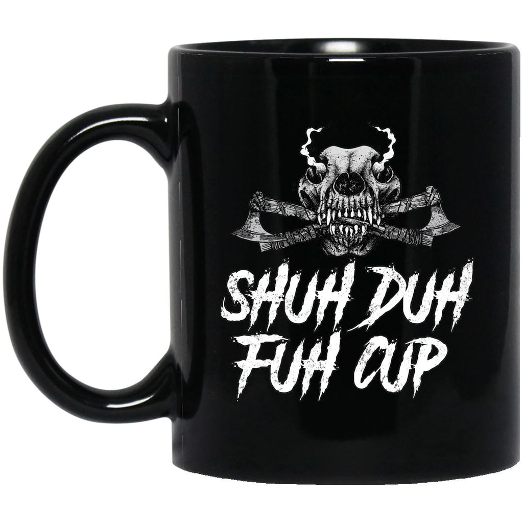Viking mug, Shuh Duh Fuh Cup, BlackApparel[Heathen By Nature authentic Viking products]Black mugBlackOne Size