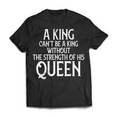 Viking, Norse, Gym t-shirt & apparel, A king can't be a king, frontApparel[Heathen By Nature authentic Viking products]Next Level Premium Short Sleeve T-ShirtBlackX-Small