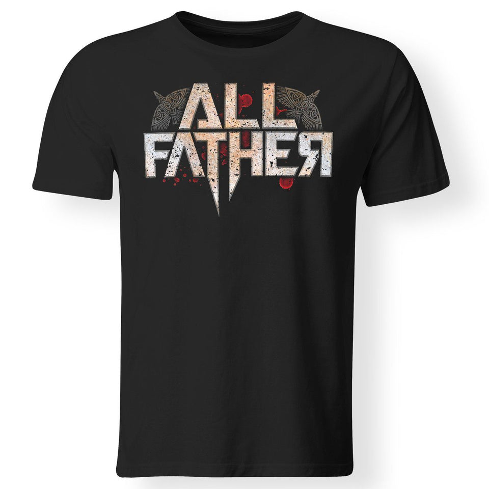 Viking, Norse, Gym t-shirt & apparel, All Father, FrontApparel[Heathen By Nature authentic Viking products]Gildan Premium Men T-ShirtBlack5XL