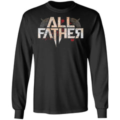 Viking, Norse, Gym t-shirt & apparel, All Father, FrontApparel[Heathen By Nature authentic Viking products]Long-Sleeve Ultra Cotton T-ShirtBlackS