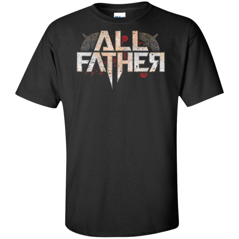 Viking, Norse, Gym t-shirt & apparel, All Father, FrontApparel[Heathen By Nature authentic Viking products]Tall Ultra Cotton T-ShirtBlackXLT