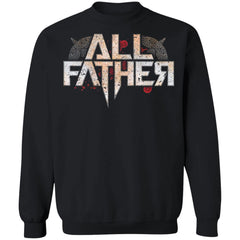 Viking, Norse, Gym t-shirt & apparel, All Father, FrontApparel[Heathen By Nature authentic Viking products]Unisex Crewneck Pullover SweatshirtBlackS