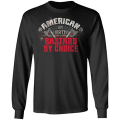 Viking, Norse, Gym t-shirt & apparel, American by Birth, FrontApparel[Heathen By Nature authentic Viking products]Long-Sleeve Ultra Cotton T-ShirtBlackS