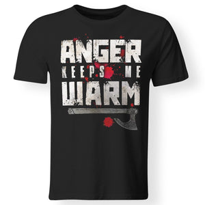 Viking, Norse, Gym t-shirt & apparel, Anger, FrontApparel[Heathen By Nature authentic Viking products]Gildan Premium Men T-ShirtBlack5XL