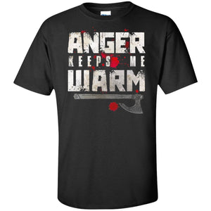 Viking, Norse, Gym t-shirt & apparel, Anger, FrontApparel[Heathen By Nature authentic Viking products]Tall Ultra Cotton T-ShirtBlackXLT