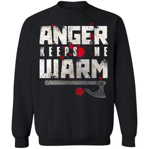Viking, Norse, Gym t-shirt & apparel, Anger, FrontApparel[Heathen By Nature authentic Viking products]Unisex Crewneck Pullover SweatshirtBlackS