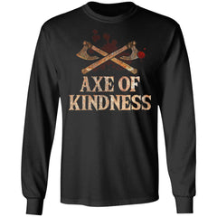 Viking, Norse, Gym t-shirt & apparel, Axe Of Kindness, FrontApparel[Heathen By Nature authentic Viking products]Long-Sleeve Ultra Cotton T-ShirtBlackS