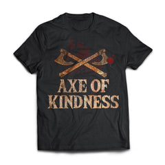 Viking, Norse, Gym t-shirt & apparel, Axe Of Kindness, FrontApparel[Heathen By Nature authentic Viking products]Next Level Premium Short Sleeve T-ShirtBlackX-Small