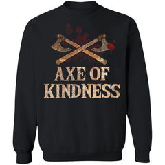 Viking, Norse, Gym t-shirt & apparel, Axe Of Kindness, FrontApparel[Heathen By Nature authentic Viking products]Unisex Crewneck Pullover Sweatshirt 8 oz.BlackS