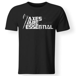 Viking, Norse, Gym t-shirt & apparel, Axes are essential, FrontApparel[Heathen By Nature authentic Viking products]Gildan Premium Men T-ShirtBlack5XL