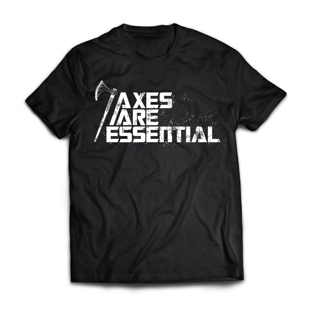Viking, Norse, Gym t-shirt & apparel, Axes are essential, FrontApparel[Heathen By Nature authentic Viking products]Next Level Premium Short Sleeve T-ShirtBlackX-Small