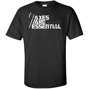 Viking, Norse, Gym t-shirt & apparel, Axes are essential, FrontApparel[Heathen By Nature authentic Viking products]Tall Ultra Cotton T-ShirtBlackXLT
