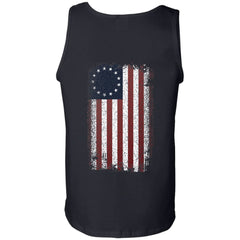 Viking, Norse, Gym t-shirt & apparel, Betsy Ross Flag, BackApparel[Heathen By Nature authentic Viking products]Cotton Tank TopBlackS