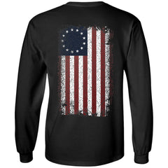 Viking, Norse, Gym t-shirt & apparel, Betsy Ross Flag, BackApparel[Heathen By Nature authentic Viking products]Long-Sleeve Ultra Cotton T-ShirtBlackS