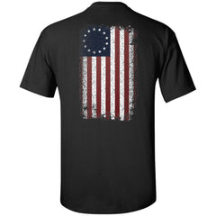 Viking, Norse, Gym t-shirt & apparel, Betsy Ross Flag, BackApparel[Heathen By Nature authentic Viking products]Tall Ultra Cotton T-ShirtBlackXLT