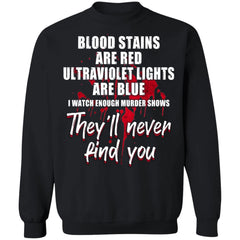Viking, Norse, Gym t-shirt & apparel, Blood Stains, FrontApparel[Heathen By Nature authentic Viking products]Unisex Crewneck Pullover SweatshirtBlackS