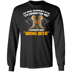 Viking, Norse, Gym t-shirt & apparel, Bring Beer, FrontApparel[Heathen By Nature authentic Viking products]Long-Sleeve Ultra Cotton T-ShirtBlackS