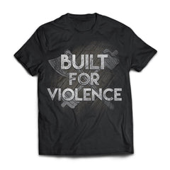 Viking, Norse, Gym t-shirt & apparel, Built for violence, frontApparel[Heathen By Nature authentic Viking products]Next Level Premium Short Sleeve T-ShirtBlackX-Small