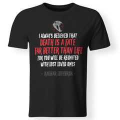 Viking, Norse, Gym t-shirt & apparel, Death Is A Fate, FrontApparel[Heathen By Nature authentic Viking products]Premium Men T-ShirtBlackS