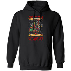 Viking, Norse, Gym t-shirt & apparel, Deck The Halls Valhalla, FrontApparel[Heathen By Nature authentic Viking products]Unisex Pullover HoodieBlackS