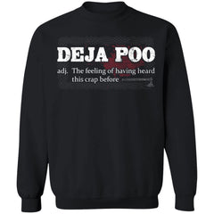 Viking, Norse, Gym t-shirt & apparel, Deja Poo, FrontApparel[Heathen By Nature authentic Viking products]Unisex Crewneck Pullover SweatshirtBlackS