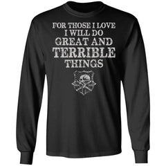 Viking, Norse, Gym t-shirt & apparel, Do Great And Terrible Things, FrontApparel[Heathen By Nature authentic Viking products]Long-Sleeve Ultra Cotton T-ShirtBlackS