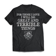 Viking, Norse, Gym t-shirt & apparel, Do Great And Terrible Things, FrontApparel[Heathen By Nature authentic Viking products]Next Level Premium Short Sleeve T-ShirtBlackX-Small