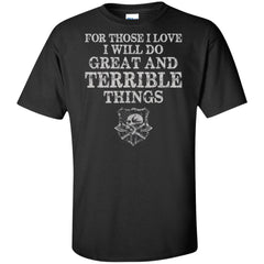 Viking, Norse, Gym t-shirt & apparel, Do Great And Terrible Things, FrontApparel[Heathen By Nature authentic Viking products]Tall Ultra Cotton T-ShirtBlackXLT