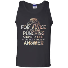 Viking, Norse, Gym t-shirt & apparel, Don't Ask Me For Advice, FrontApparel[Heathen By Nature authentic Viking products]Cotton Tank TopBlackS