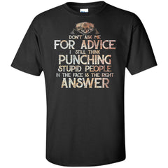 Viking, Norse, Gym t-shirt & apparel, Don't Ask Me For Advice, FrontApparel[Heathen By Nature authentic Viking products]Tall Ultra Cotton T-ShirtBlackXLT