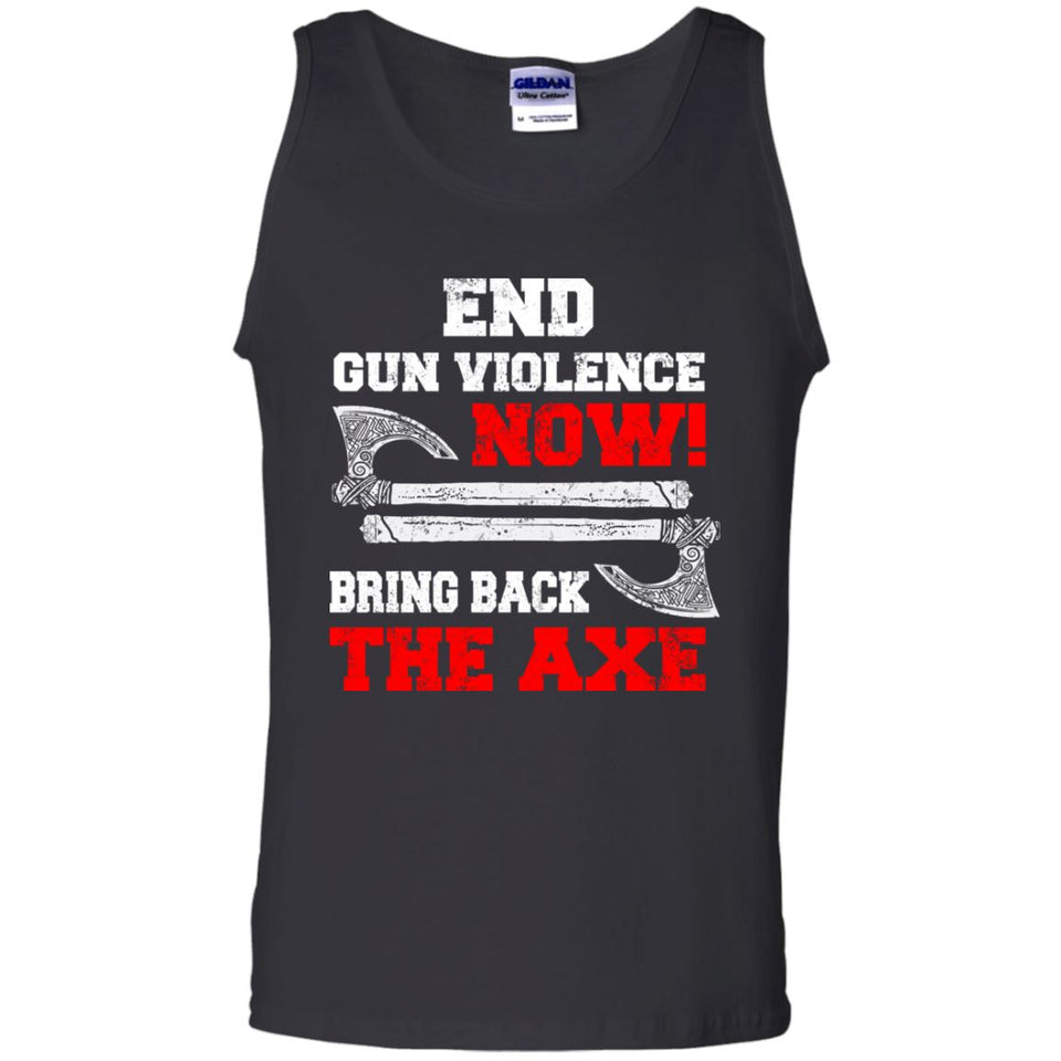 Viking, Norse, Gym t-shirt & apparel, End gun violence now, frontApparel[Heathen By Nature authentic Viking products]Cotton Tank TopBlackS