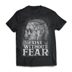 Viking, Norse, Gym t-shirt & apparel, Exist without fear, frontApparel[Heathen By Nature authentic Viking products]Next Level Premium Short Sleeve T-ShirtBlackX-Small