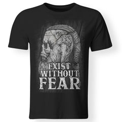Viking, Norse, Gym t-shirt & apparel, Exist without fear, frontApparel[Heathen By Nature authentic Viking products]Premium Men T-ShirtBlackS