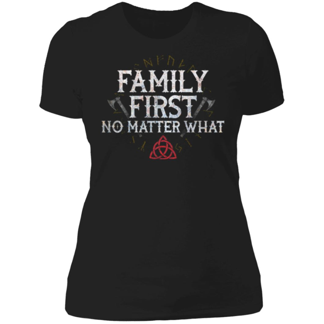 Viking, Norse, Gym t-shirt & apparel, Family, FrontApparel[Heathen By Nature authentic Viking products]Next Level Ladies' T-ShirtBlackX-Small