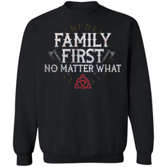 Viking, Norse, Gym t-shirt & apparel, Family, FrontApparel[Heathen By Nature authentic Viking products]Unisex Crewneck Pullover SweatshirtBlackS