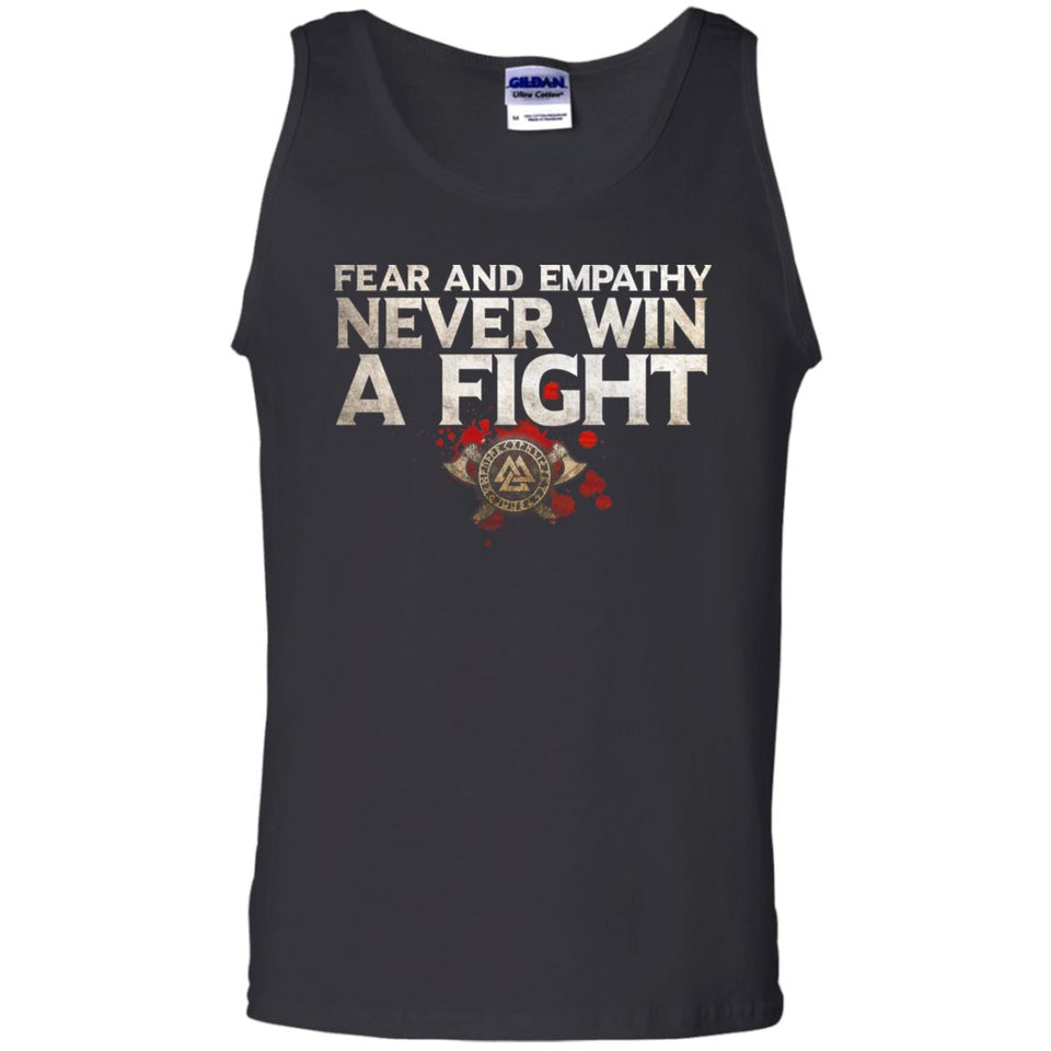 Viking, Norse, Gym t-shirt & apparel, Fear and Empathy, FrontApparel[Heathen By Nature authentic Viking products]Cotton Tank TopBlackS