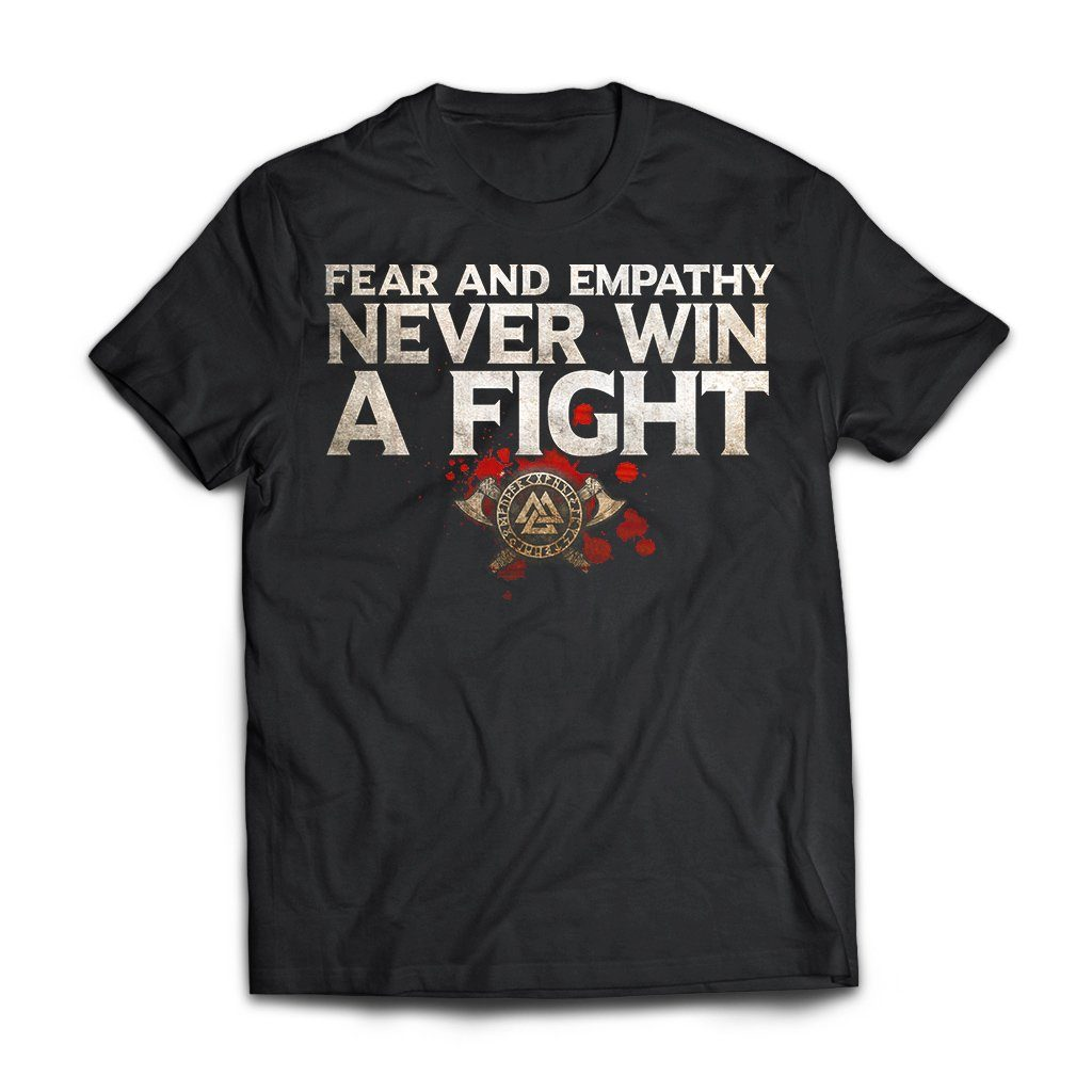 Viking, Norse, Gym t-shirt & apparel, Fear and Empathy, FrontApparel[Heathen By Nature authentic Viking products]Next Level Premium Short Sleeve T-ShirtBlackX-Small