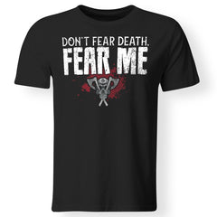 Viking, Norse, Gym t-shirt & apparel, Fear Me, FrontApparel[Heathen By Nature authentic Viking products]Gildan Premium Men T-ShirtBlack5XL