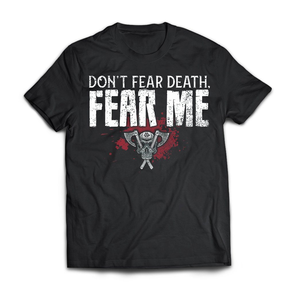 Viking, Norse, Gym t-shirt & apparel, Fear Me, FrontApparel[Heathen By Nature authentic Viking products]Next Level Premium Short Sleeve T-ShirtBlackX-Small