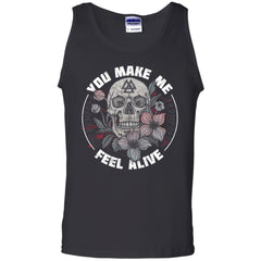 Viking, Norse, Gym t-shirt & apparel, Feel Alive, FrontApparel[Heathen By Nature authentic Viking products]Cotton Tank TopBlackS