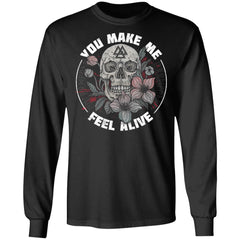 Viking, Norse, Gym t-shirt & apparel, Feel Alive, FrontApparel[Heathen By Nature authentic Viking products]Long-Sleeve Ultra Cotton T-ShirtBlackS